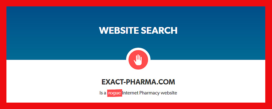 Exact-pharma com Reviews  Unreliable Drugstore