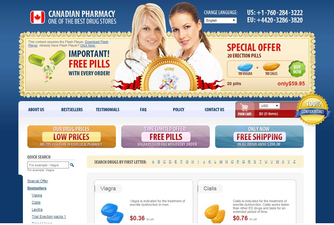 Canadian Pharmacy Online homepage