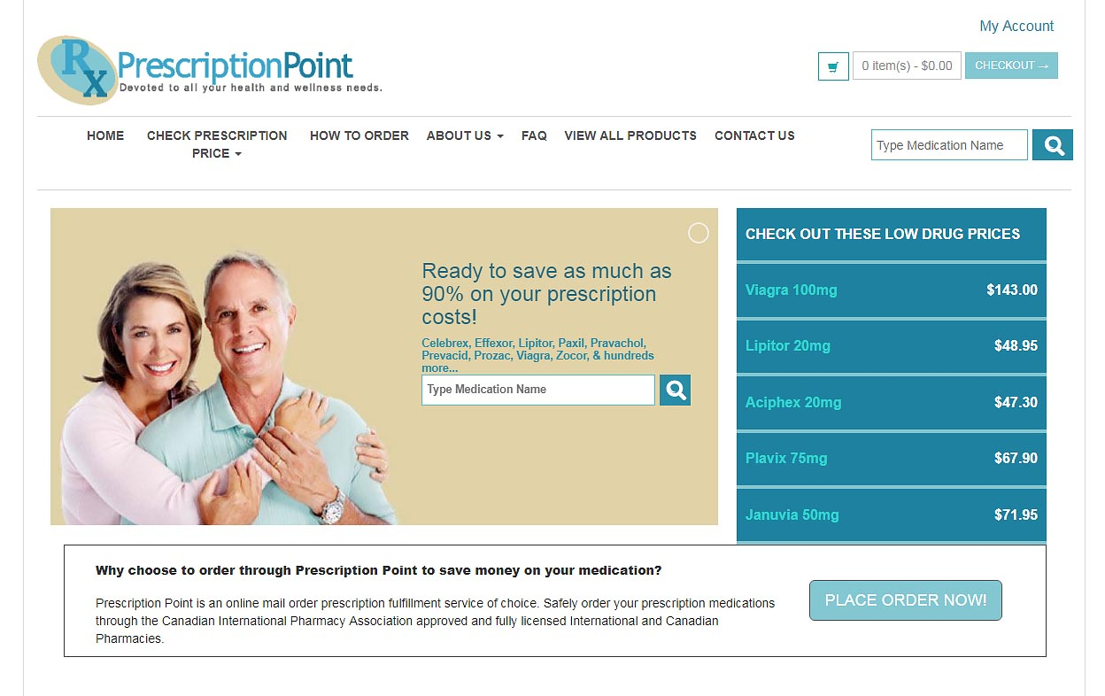 Prescription Point homepage