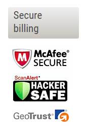 McAfee, Hacker safe, GeoTrust