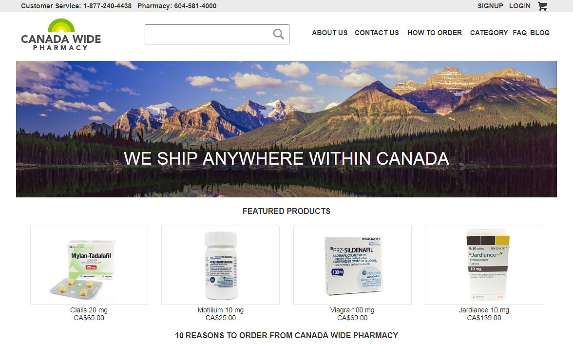 Canada Wide Pharmacy Review
