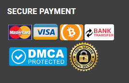 credit cards, bitcoin, bank transfer