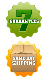 Guarantee and same-day delivery