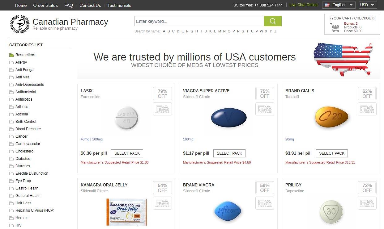 pharmacy main page