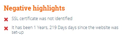 negative highlights