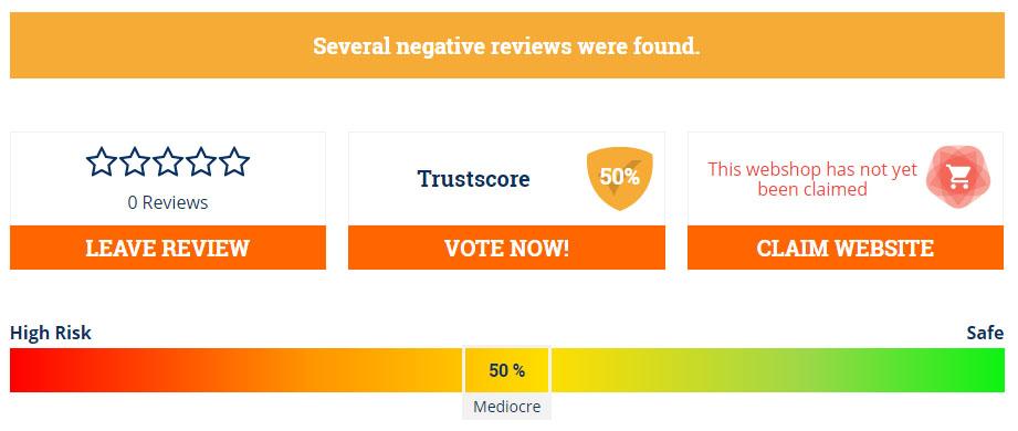 a trust score of 50%