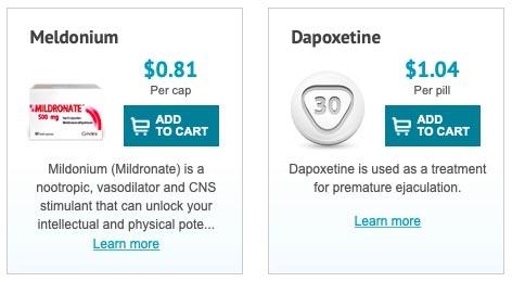 Meldonium, Dapoxetine