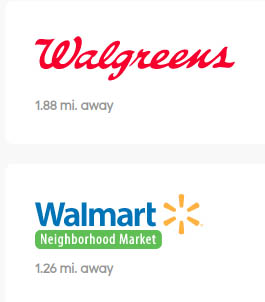 Walgreens and walmart