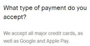 cards, apple and google pay
