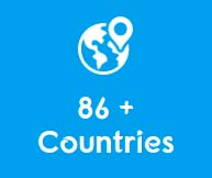 shipping to 86+ countries